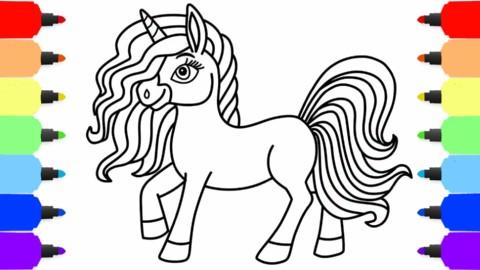 小朋友绘画:如何画可爱的马头!