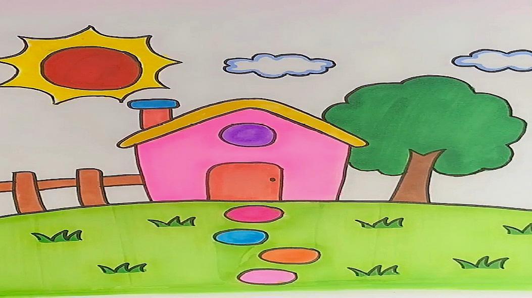 01:38  来源:好看视频-家乡的风景简笔画 4家乡简笔画:先画出房子