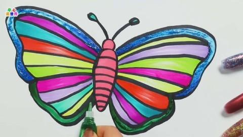 土豆 简单易学的简笔画,蝴蝶花纹用圆圈表示,简单又漂亮,适合幼儿园