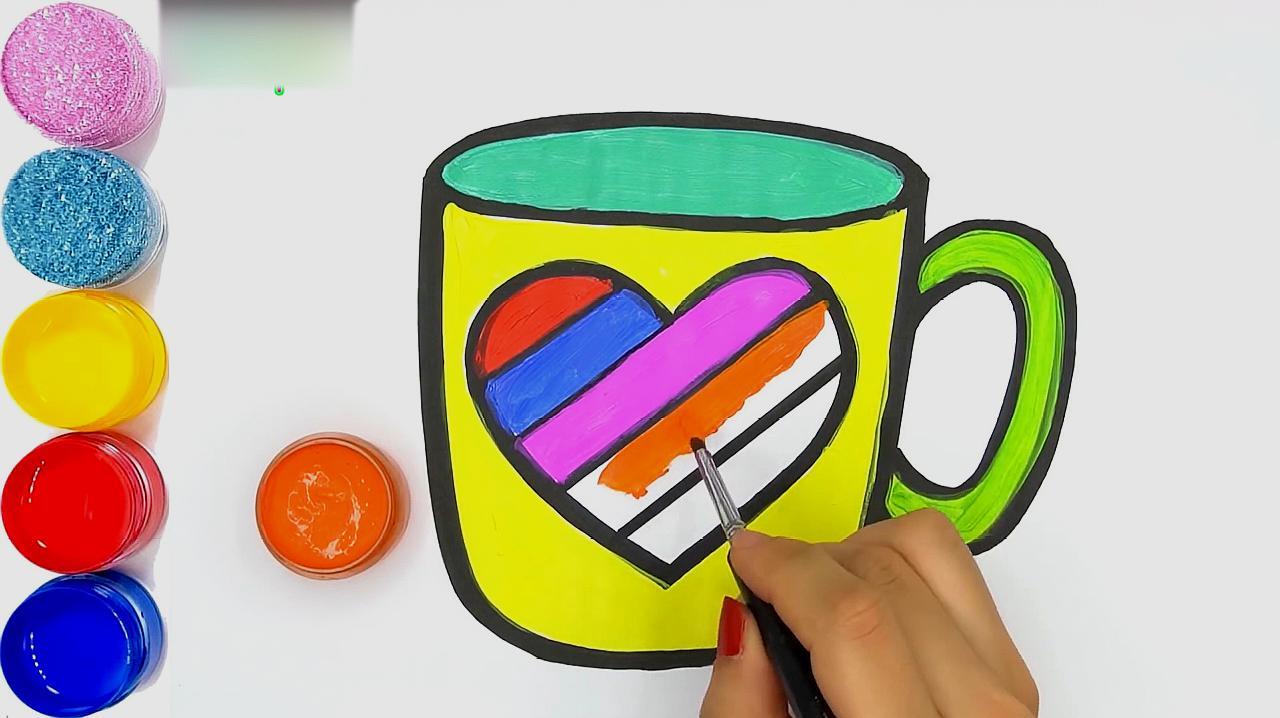 杯子的简笔画怎么画?