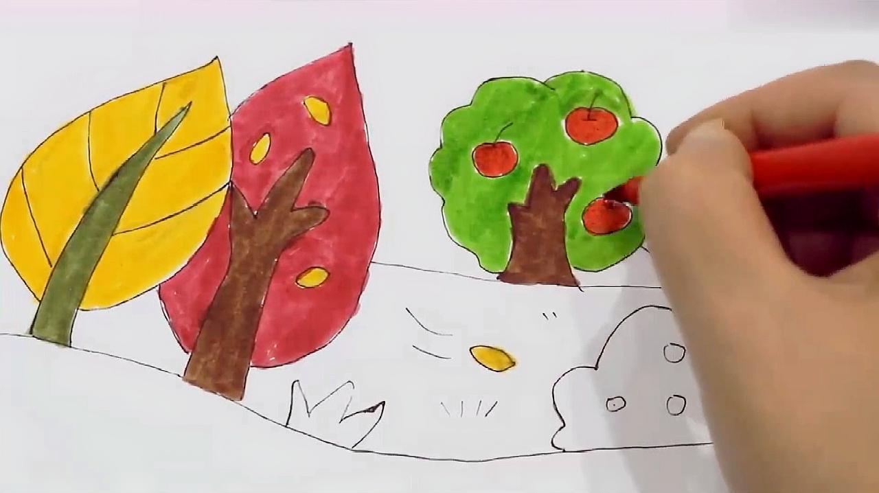 秋天的简笔画怎么画