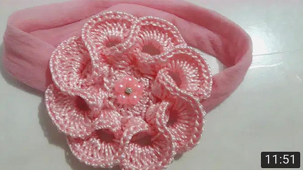 四叶草创意:《钩针编织漂亮的花朵发圈》视频合集图片
