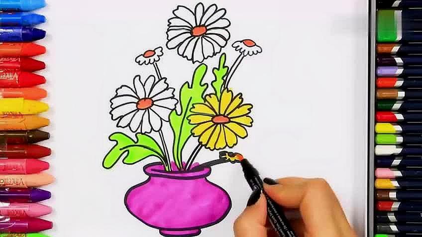 美麗的畫畫簡單美