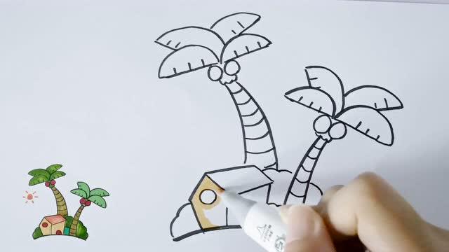 椰子树简笔画带颜色画法 2繁茂椰子树的画法  01:46  来源:优酷-植物