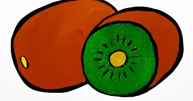 教你猕猴桃的画法,简单又形象!
