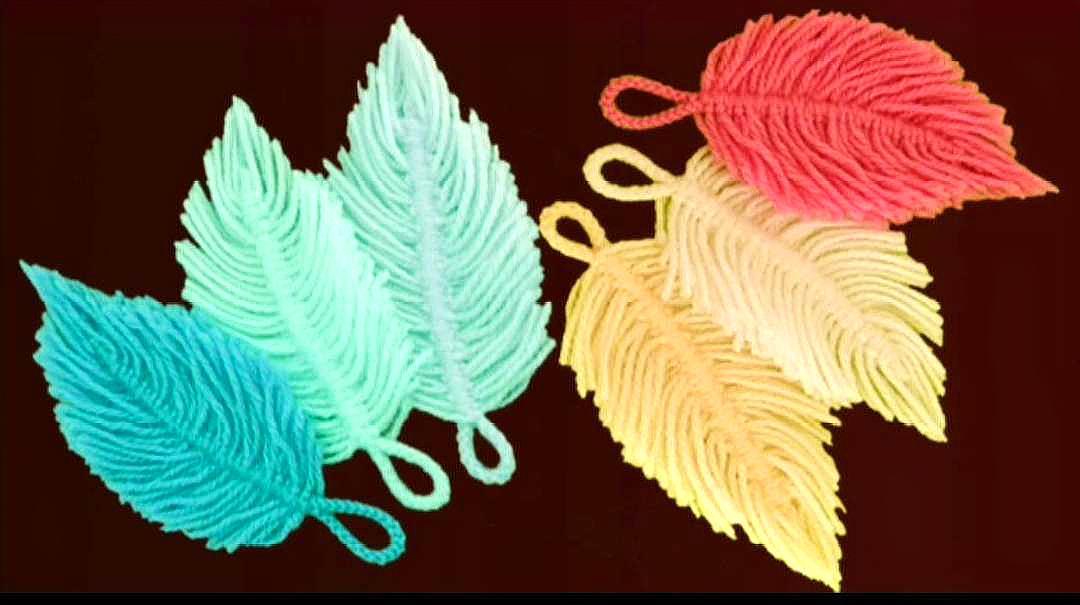 碎毛线大妙用,手工制作漂亮的羽毛,简单精美,赶紧试试吧!