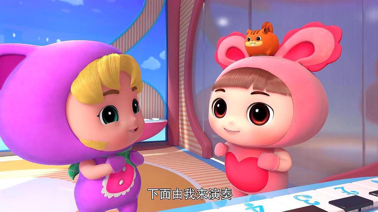 百变校巴:小茜和迪迪在乱按电梯,她俩真不懂事,这样乱按会坏的