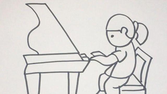 钢琴简笔画的画法