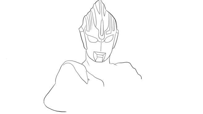 2赛罗奥特曼简笔画:我们在画赛罗奥特曼的时候一定要注意他的身体的