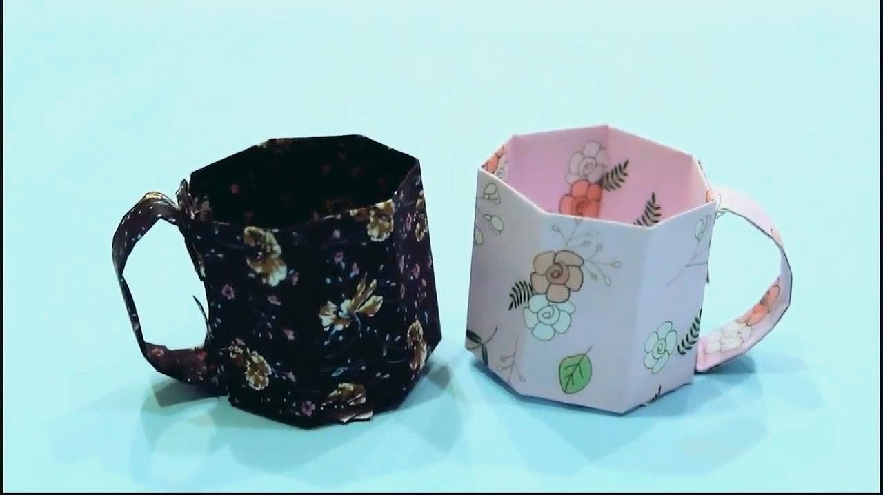 儿童手工制作大全,手工折纸杯子