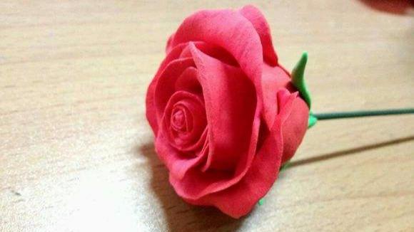 粘土玫瑰花制作方法教程