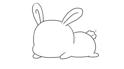 可爱的小兔子儿童亲子简笔画