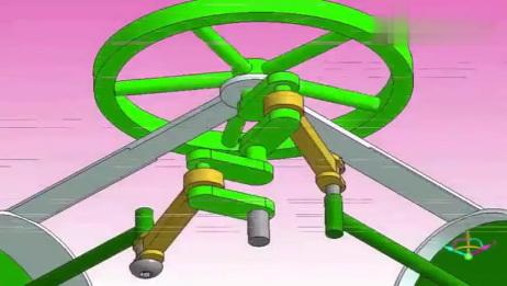 几个让人看了很有灵感的机械结构,很清晰直观的原理!
