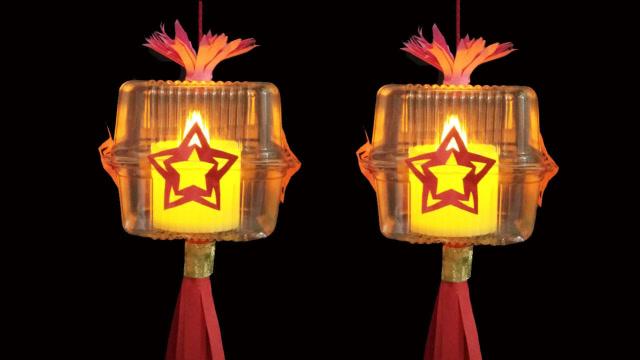 07:13  爱奇艺 手工纸灯笼的制作方法 花灯制作方法 小兔子灯笼制作