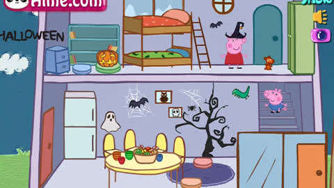 【朵朵】小猪佩奇系列游戏小猪佩奇的a蛋蛋蛋蛋游戏男小屋漫画图片