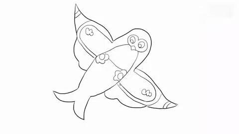 可爱的燕子风筝儿童亲子简笔画