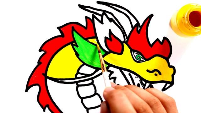 中国龙简笔画,威武霸气!