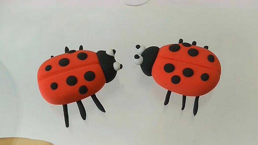 粘土七星瓢虫 手工彩泥小朋友都喜欢的可爱动物