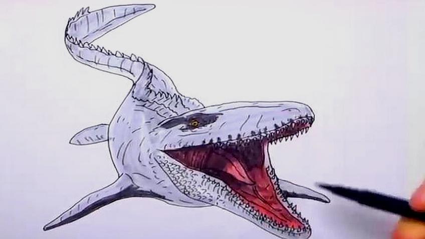 怎么教宝宝画恐龙?图片