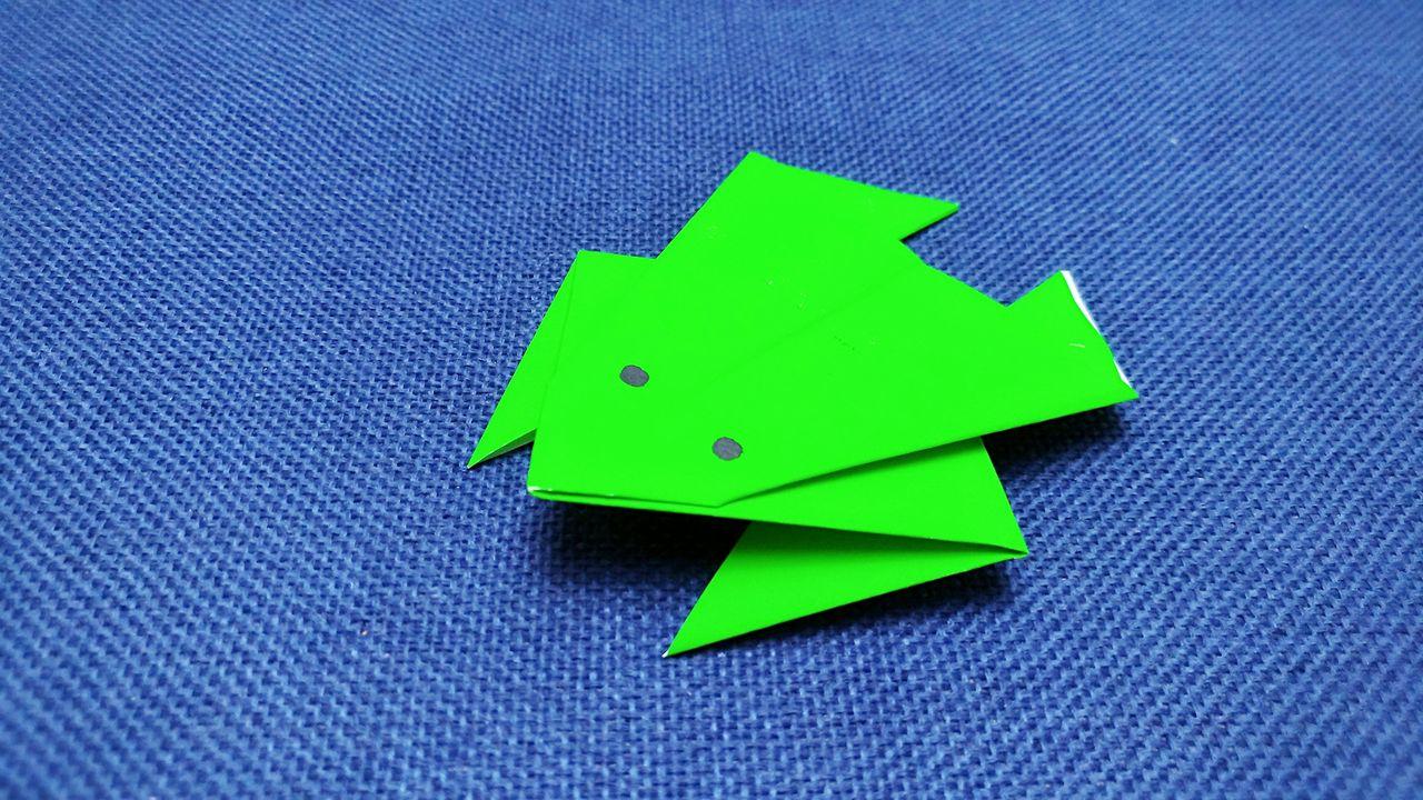 青蛙简单折法怎么折