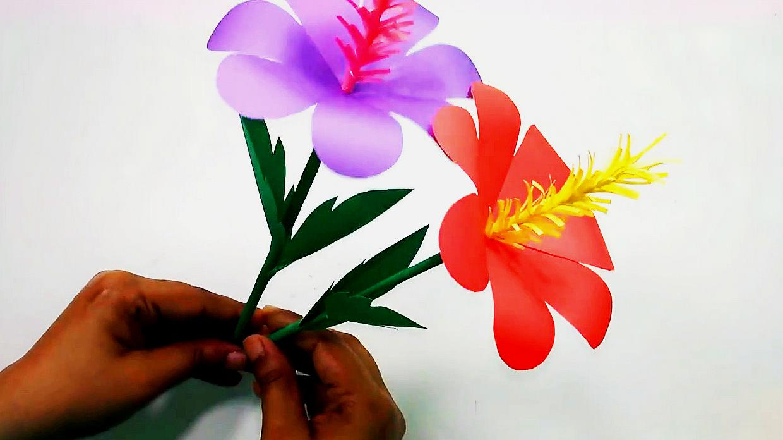 折纸剪纸艺术,手工制作漂亮的装饰纸花,折纸教学