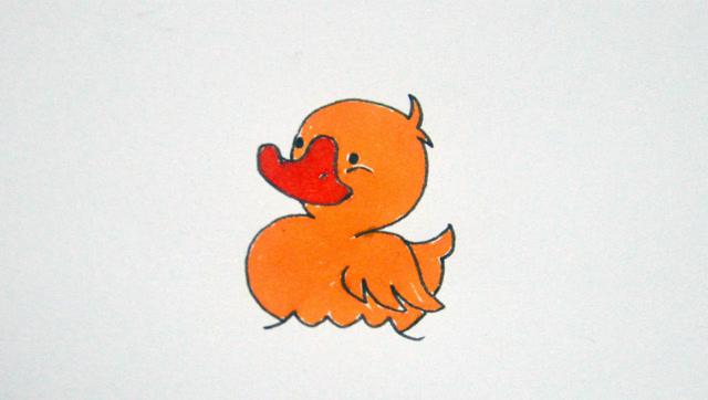 儿童简笔画鸭子,1分钟让孩子快速掌握小鸭子画法!