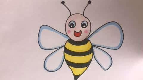 猪幼儿适合画第一季:动物老虎启蒙:可爱的小绘画简蜜蜂之小妹,学画零笔画直播被和谐了吗图片