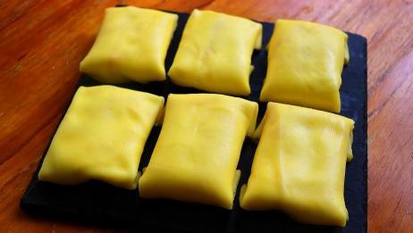 比毛巾卷和千层简单的蛋糕,细腻香甜又滑嫩