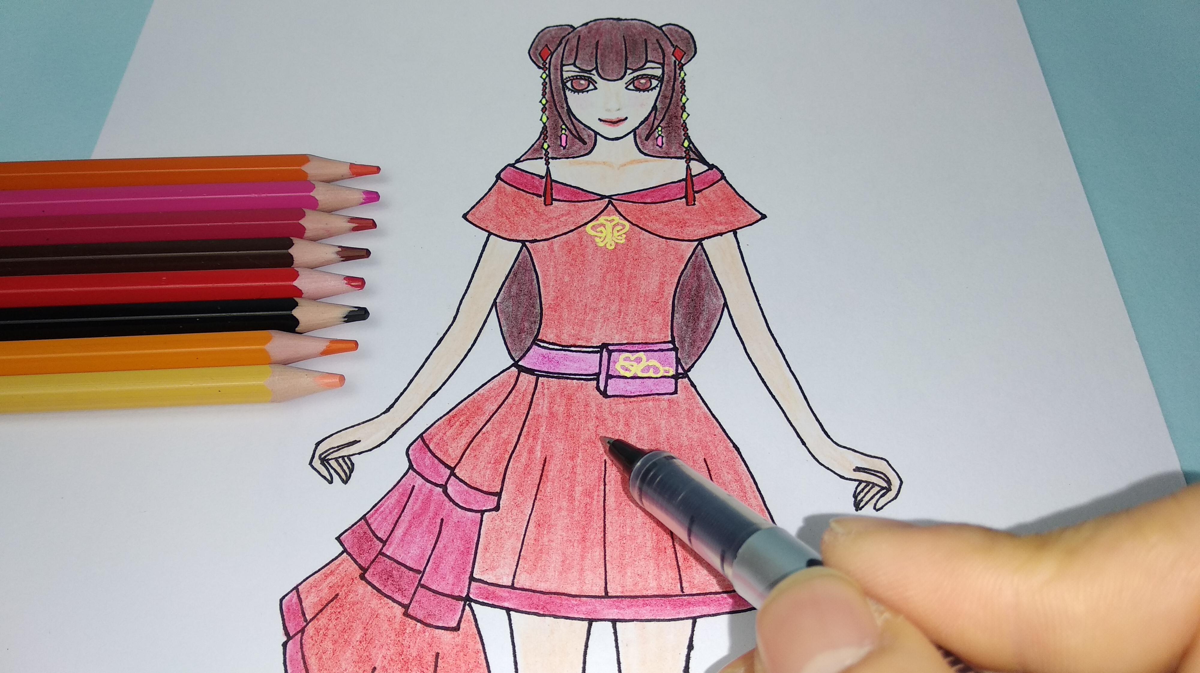 精灵梦叶罗丽仙子齐娜简笔画,小朋友都很喜欢图片