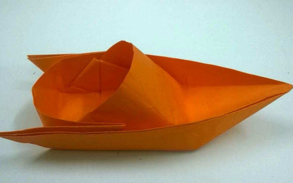 高级纸船怎么折