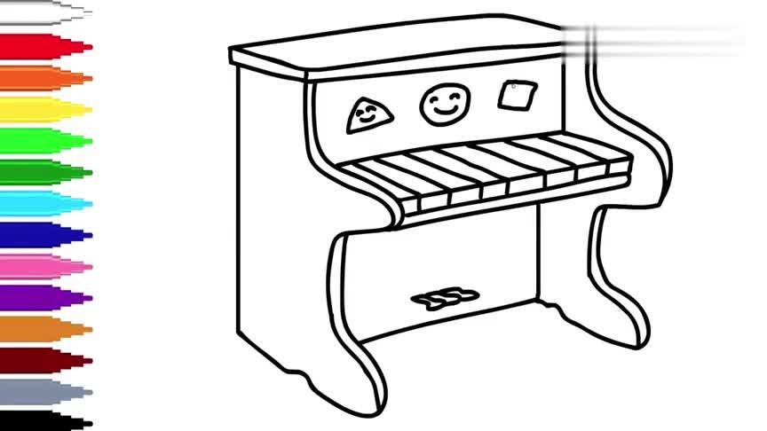 钢琴简笔画怎么画?