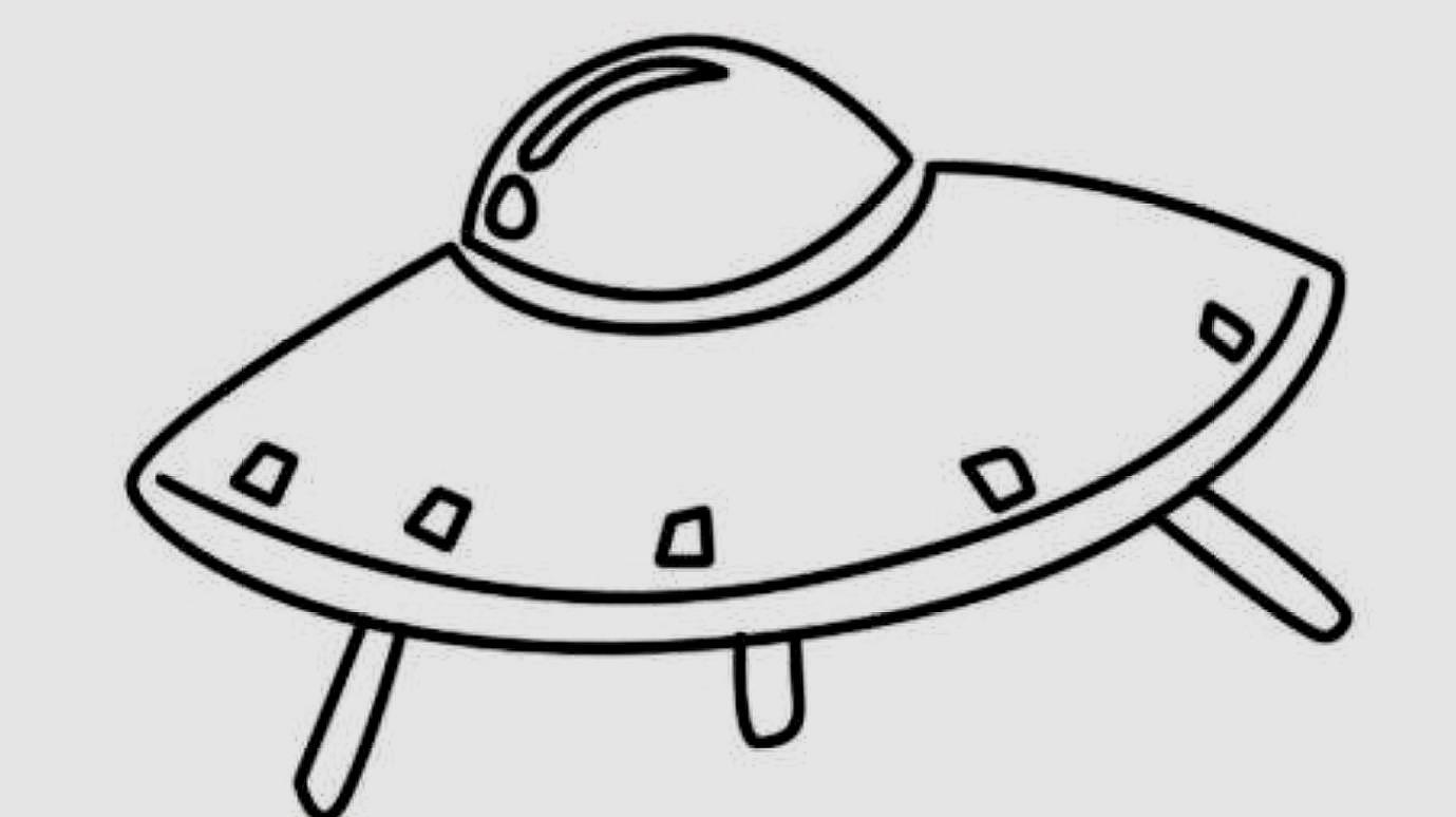 宇宙飞船简笔画:这样画太可爱了,小朋友一学就会!