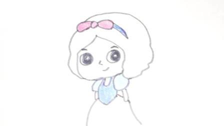 幼儿涂鸦: 卡通白雪公主简笔画 幼儿早教亲子互动 儿童学画画