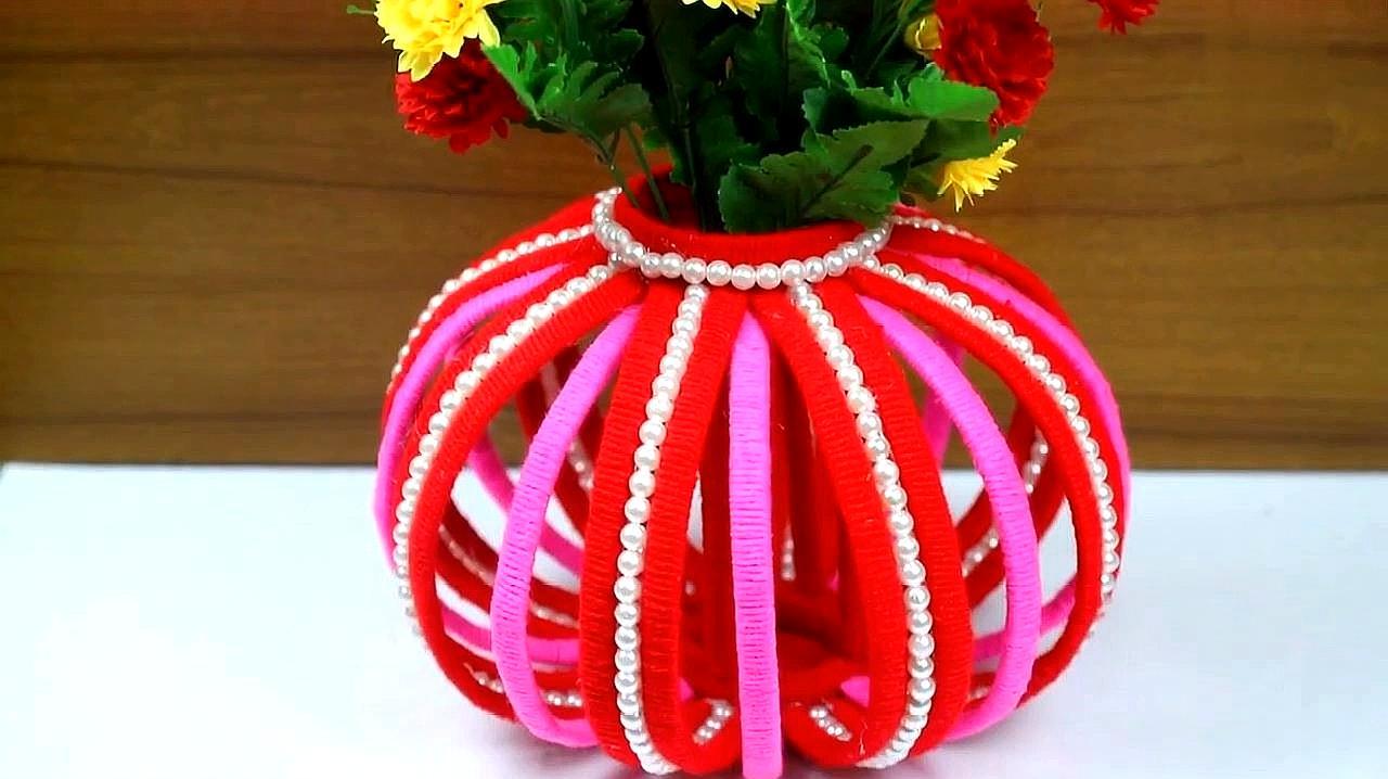壳手工制作花瓶