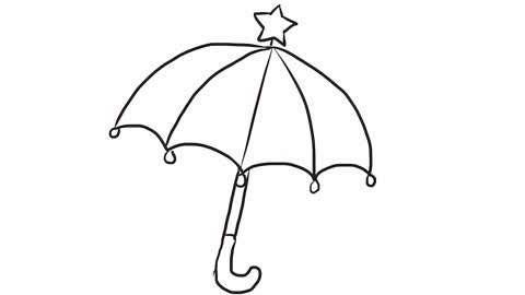 小林简笔画 可爱的小雨伞幼儿亲子简笔画