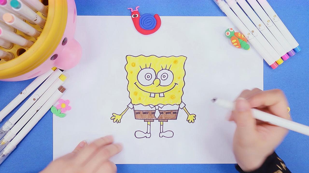 海绵宝宝简笔画怎么画