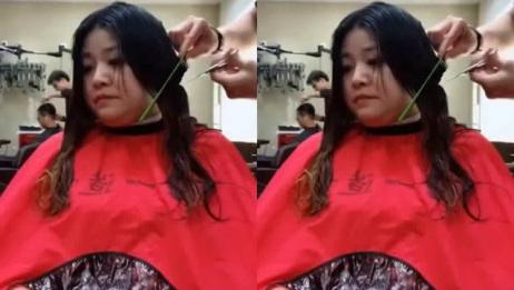 大姐嫌弃脸大不敢剪短发,一剪子下去,大姐超满意,真的很好看