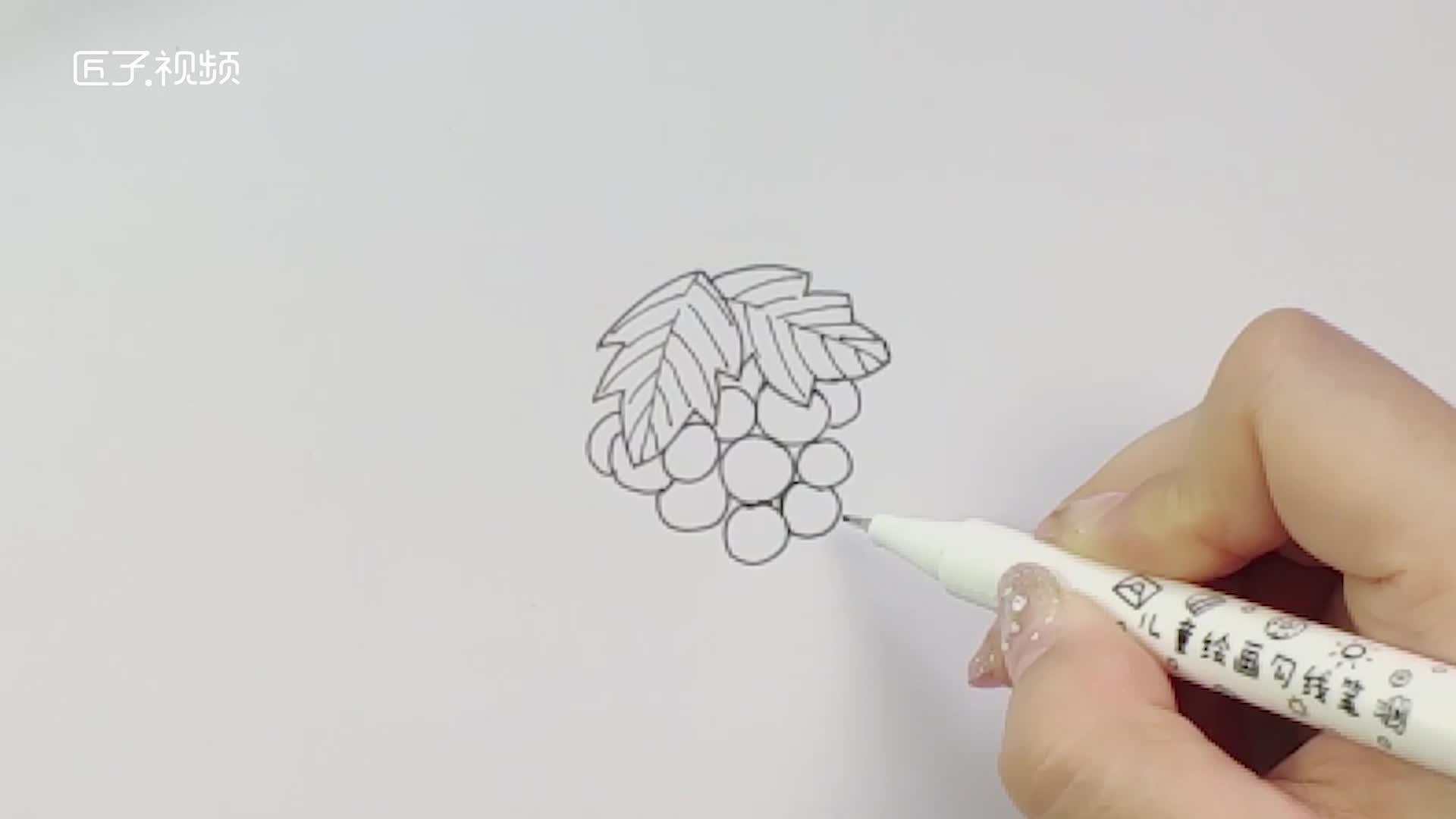 葡萄叶子简笔画怎么画