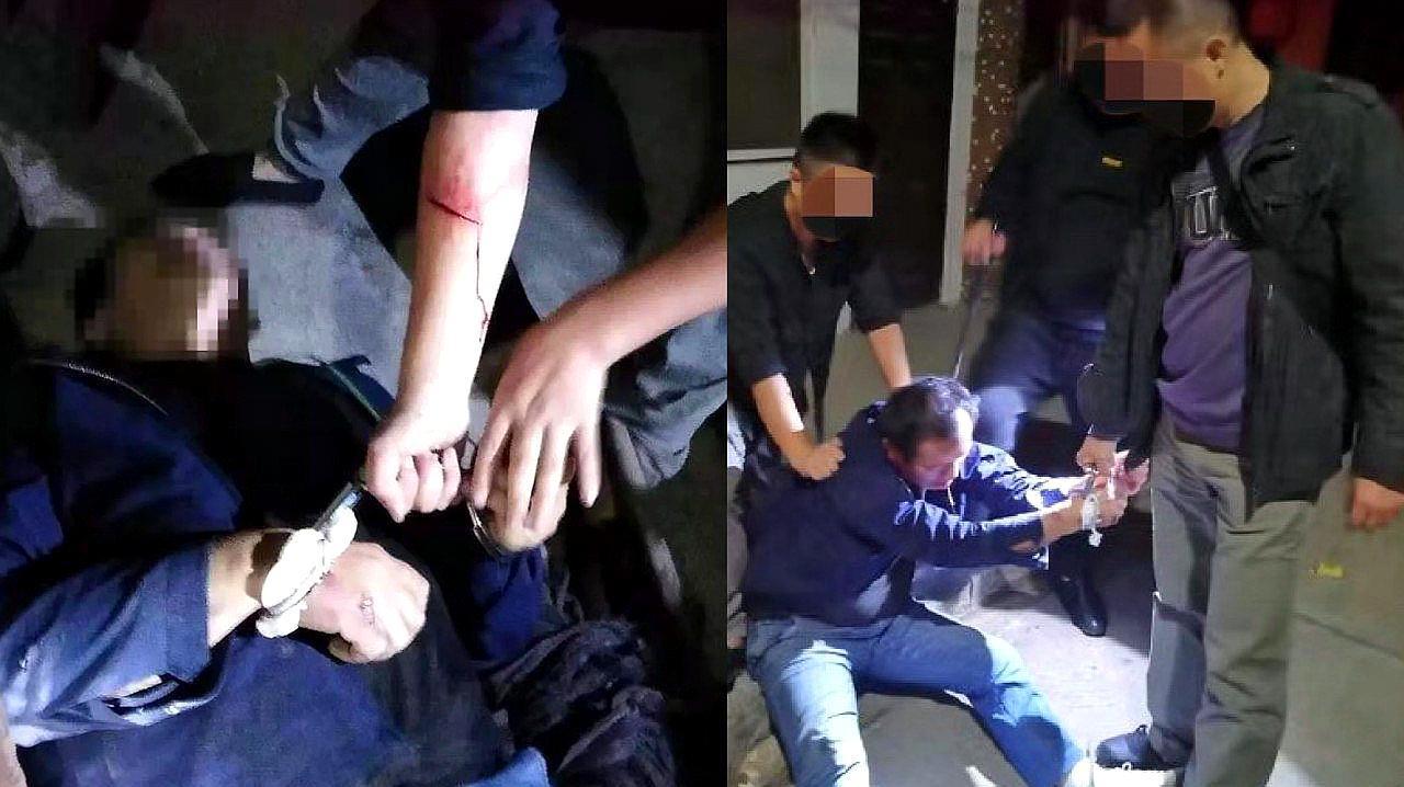 硬汉!湖北民警围捕毒贩负伤手臂缝了七针 毒贩随身携带匕首