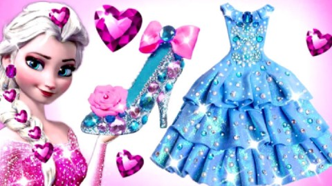 diy手工制作彩泥粘土迪士尼 彩泥制作芭比公主水晶裙子
