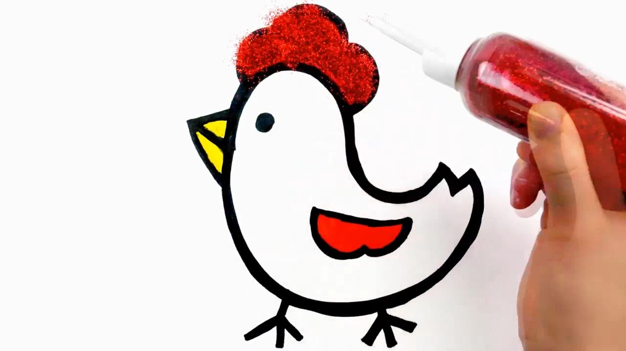 如何画一个可爱的小鸡?