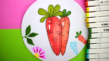 最适合宝宝的100个简笔画,小兔子最爱的胡萝卜!