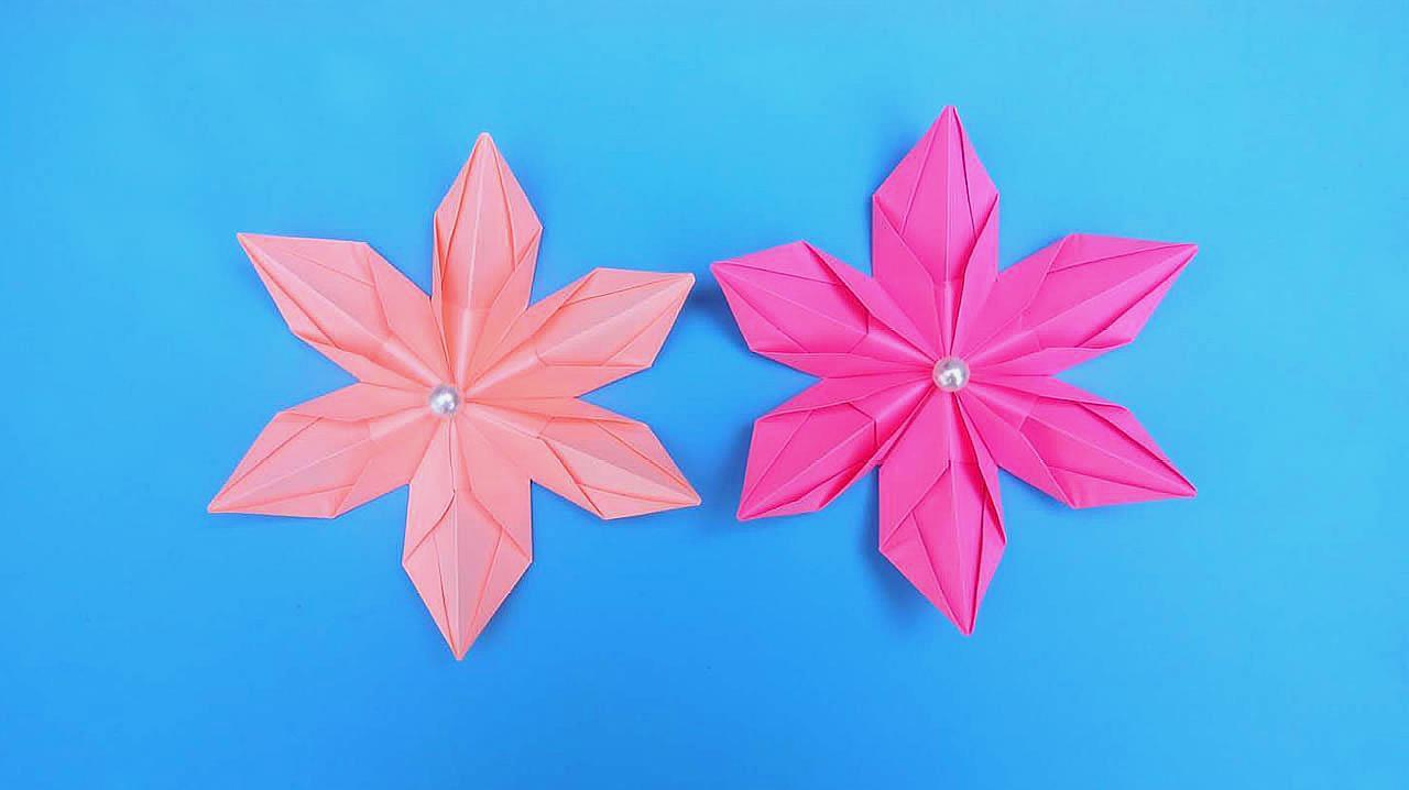 10种常见折纸花教程,简单易学