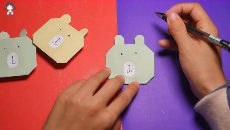 甜心的手工教室——小熊折纸教学,就是这么简单又好玩