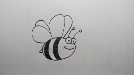 简笔画蜜蜂窦老师教画画