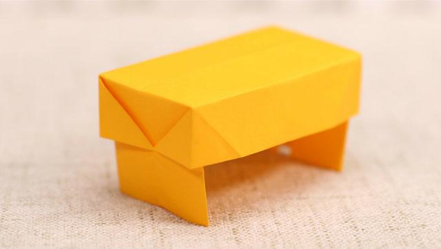 仿真卧室床头柜小抽屉收纳盒折纸 服务升级打开原网页 3小桌子怎么折
