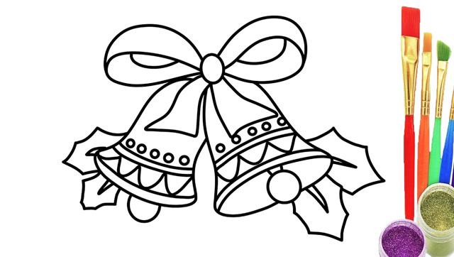 给宝宝画一个铃铛学习颜色简笔画涂色彩