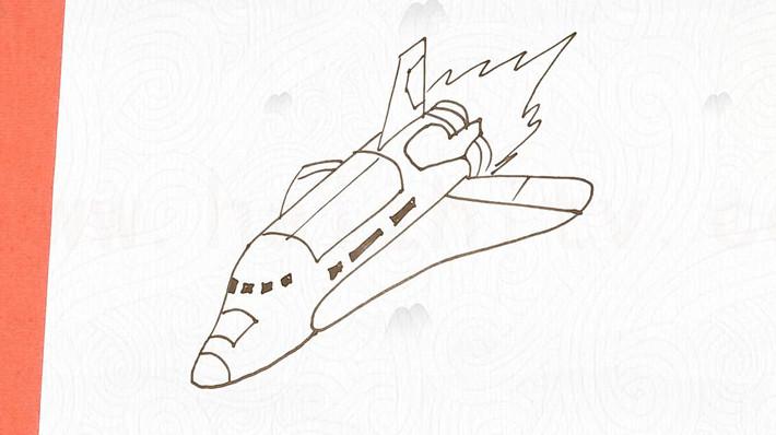 5俯冲的飞机的画法  01:05  来源:好看视频-教你画航天飞机简笔画,一