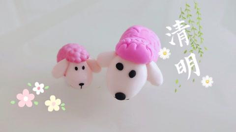 diy手工制作可爱的粘土小羊,简单易学!