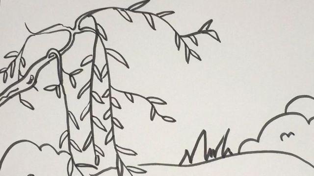 柳树的简笔画怎么画